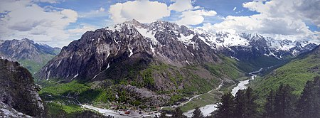 The Albanian Alps are an extension and simultaneously the highest section of the Dinaric Alps. Valbona nga Kukaj.jpg