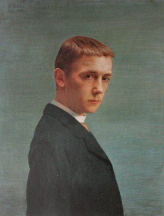 Félix Vallotton - Self-portrait at 20 years old (oil on canvas; 1885)