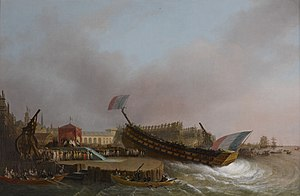 French period - Napoleon attends to the launch of the Friedland in Antwerp (now in Belgium).