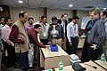 Van de Graaff Generator Experimentation - Indo-Finnish-Thai Exhibit Development Workshop - NCSM - Kolkata 2014-11-27 9766.JPG