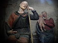 Varallo, Sacra monte, Cappella 9-L'Angelo Avvisa San Giuseppe di Fuggire in Egitto 02.JPG