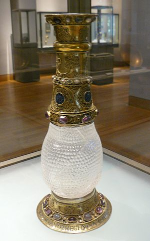 Eleanor of Aquitaine - Eleanor's grandfather, William IX of Aquitaine, gave her this rock crystal vase, which she gave to Louis as a wedding gift. He later donated it to the Abbey of Saint-Denis. This is the only surviving artifact known to have belonged to Eleanor.
