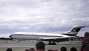 The Vickers VC-10 was developed for BOAC. Many of the airline's requirements for operability from hot and high airfields made the VC-10 unsuitable for North American carriers