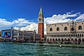 Venice city scenes - on the Grand Canal - St Mark's Square crowds (11002441123).jpg