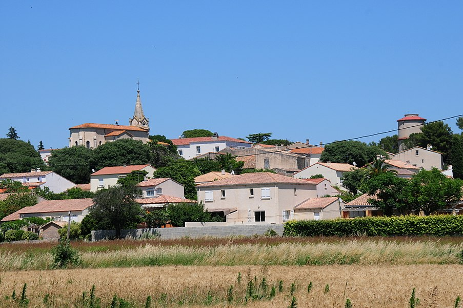 Verargues streetview panorama just nearby at 18 June 2016