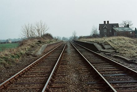 The remains of the remote Verney Junction interchange station Verney Junction station (1983).JPG