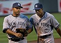 Vernon Wells and Curtis Granderson on May 22, 2013.jpg