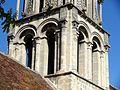 Vernouillet (78), église Saint-Étienne, clocher, étage de beffroi, vue depuis le sud-ouest.jpg