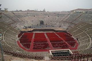 Verona Arena Roman amphitheatre in Verona, Italy