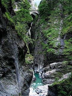 Viamala gorge and pathway in Switzerland