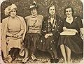 Victoire Eugénie de Battenberg, Henriette de Belgique, Marie-José de Belgique et Lilian Baels.jpg