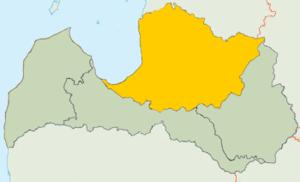 Vidzeme - Image: Vidzeme Loc Map