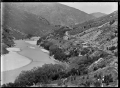View of Hindon Railway Station beside the Taieri River. ATLIB 292402.png
