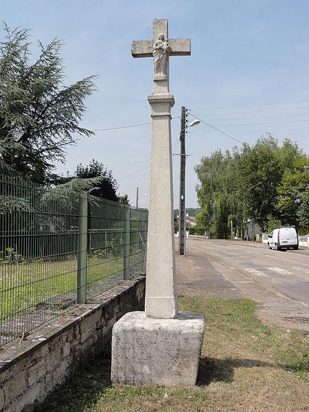 Vignot (Meuse) croix de chemin verso