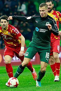 Viktor Claesson i FK Krasnodar 2017.
