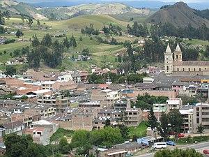 Villapinzón - Image: Villapinzon foto altamira a centro
