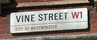 Vine Street, London Street in City of Westminster, United Kingdom