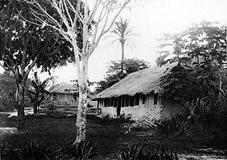 Heart of Darkness - Belgian river station on the Congo River, 1889
