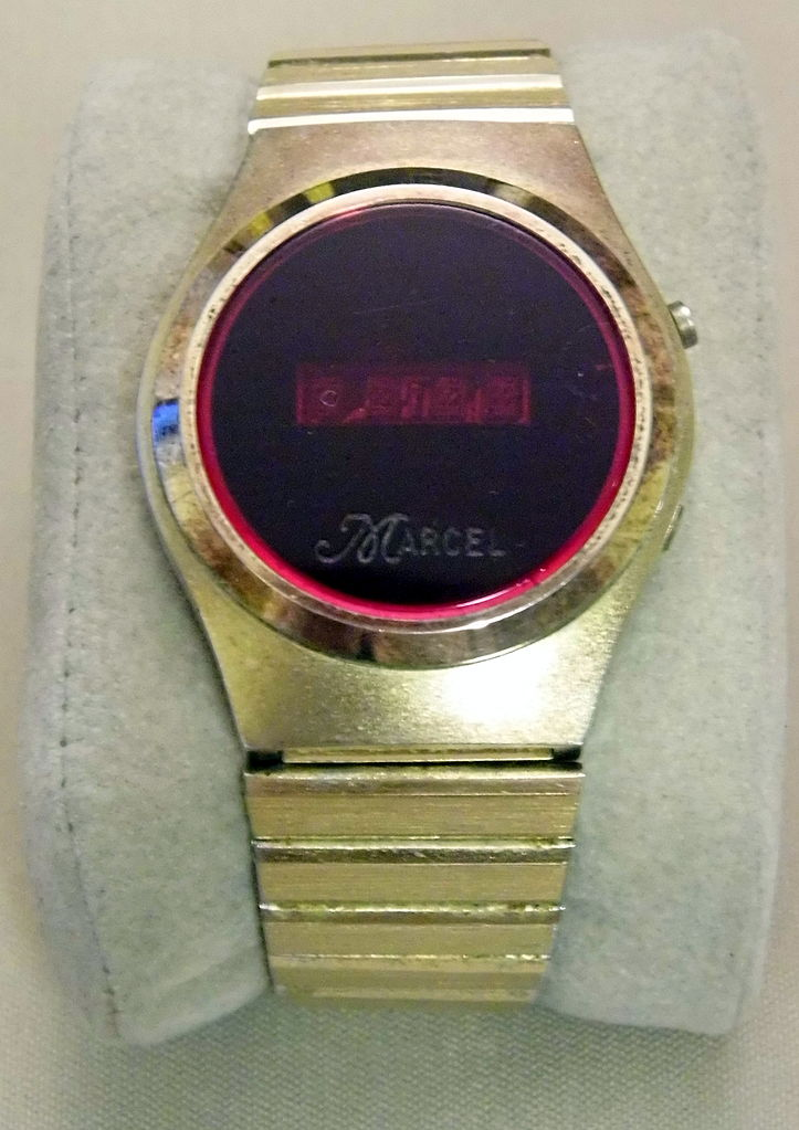 file vintage marcel s digital led wrist 1970s