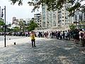 Visitors Line around Temple Plaza 20140705e.jpg