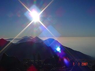 Acatenango, Chimaltenango - Acatenango volcano.