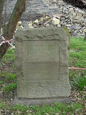 Julius von Haast - The grave of Julius von Haast's at Holy Trinity Avonside