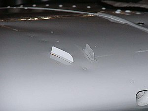 STOL - Micro Dynamics vortex generators mounted on the wing of a Cessna 182K