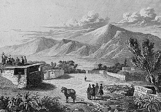 Azerbaijanis in Armenia - View on Mount Ararat from a nearby Tatar (Azeri) village (1838)