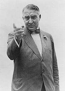 Warren G. Harding half-length portrait, standi...
