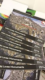 File:WLM calendars for 2014 (2013 photos) in Wikimedia Italia's office.jpg