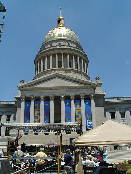 WV State Sesquicentennial WV State Capitol Sesquicentennial.JPG