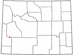 Location of La Barge, Wyoming
