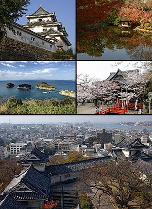 Wakayama, Wakayama - Wakayama Castle, Nishinomaru Garden, Saikazaki, Kimiidera Temple, Downtown Wakayama viewed from the castle keep