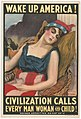 Wake up America! Civilization calls every man, woman and child! - James Montgomery Flagg. LCCN91726511.jpg