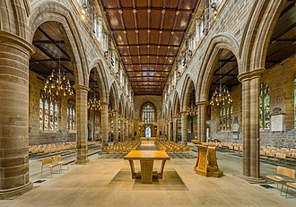 Wakefield Cathedral - The nave looking west