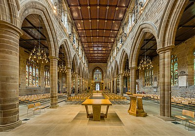 Wakefield Cathedral Nave 2, West Yorkshire, UK - Diliff.jpg