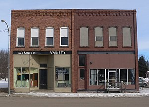 National Register of Historic Places listings in Clay County, South Dakota - Image: Wakonda, South Dakota, N corner 2nd and Ohio from SW 1