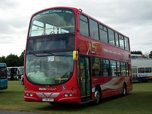 Wardle Transport - X50 branded Wright Eclipse Gemini bodied VDL DB250 in September 2012