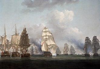 Battle of Tory Island - Battle of Tory island, Nicholas Pocock, 1799. Ulster Museum