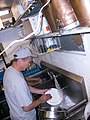 Washing dishes for Our Community Place soup kitchen Little Grill Collective Harrisonburg VA June 2008.jpg