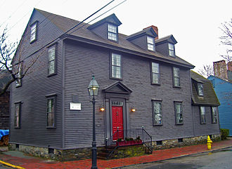 Newport Historic District (Rhode Island) - Quaker-style clapboard house in Easton's Point