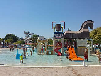 Water park - Children's play area at WaterWorld Themed Waterpark in Ayia Napa, Cyprus
