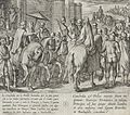 Wedding Guests Depart from Burgos. Gonzalo Gustos Remains with Ruy Velazquez While the Infantes Accompany Dona Lambra to Barbadillo LACMA 65.37.242.jpg