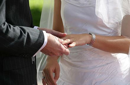 "The sixth commandment, according to the USCCB, ""summons spouses"" to an emotional and sexual fidelity they call ""essential"" to marriage and is reflective of God's ""fidelity to us."" Weddingring-JH.jpg"