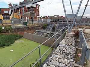Beverley and Barmston Drain - The outlet of the drain to the River Hull at Wincolmlee