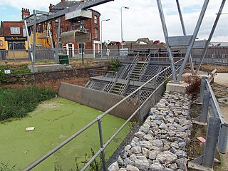 Beverley and Barmston Drain Drainage canal in East Riding of Yorkshire, England