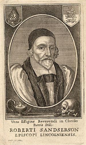 Robert Sanderson (theologian) - A 1668 engraving of Robert Sanderson by Wenceslas Hollar