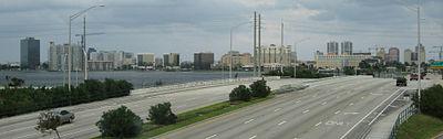 West Palm Beach skyline from Interstate 95.