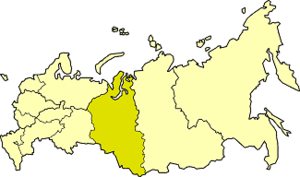 West Siberian economic region - West Siberian economic region on the map of Russia