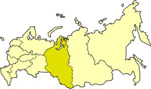 West Siberian economic region - West Siberian economic region on the map of Russia